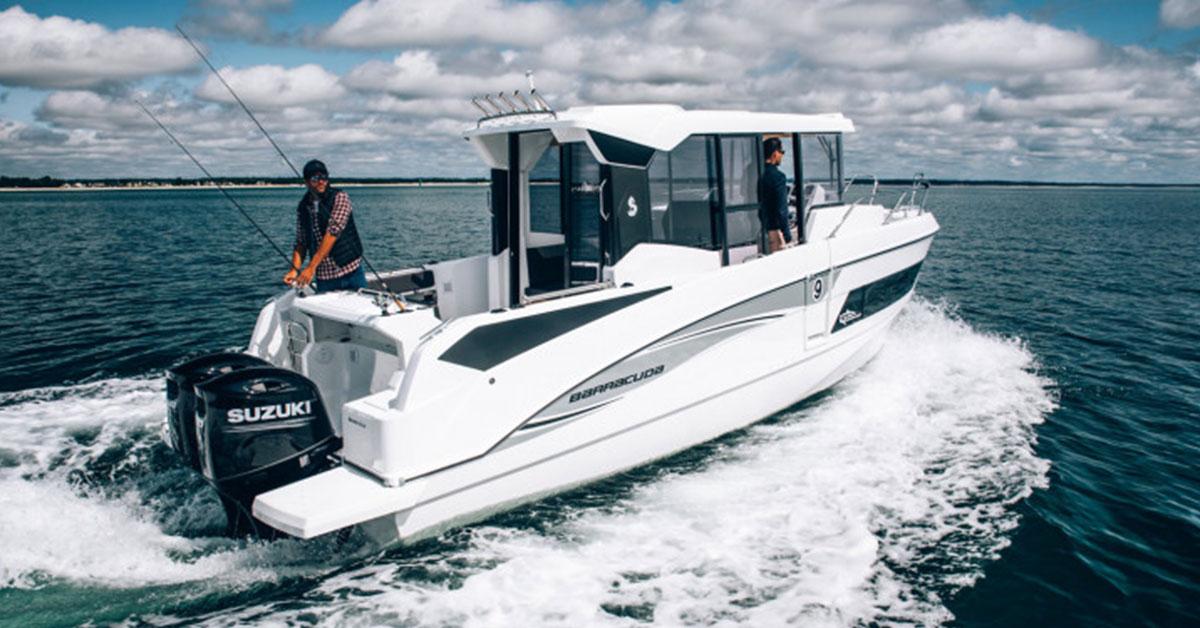 trawler barracuda 9 sur la mer