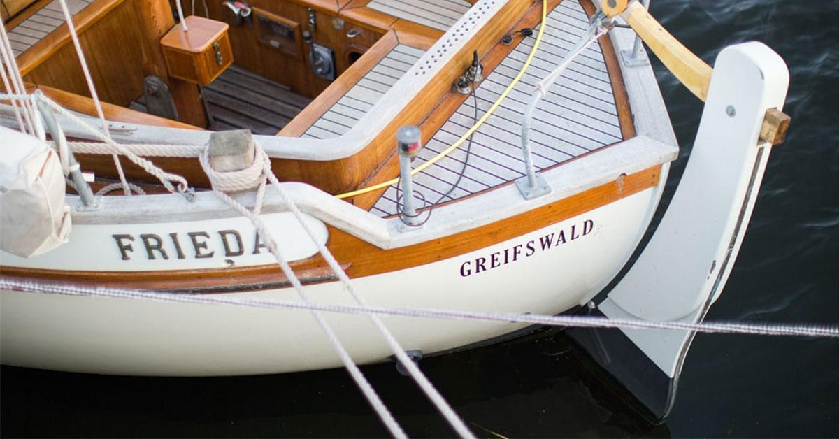 safran d'un bateau en bois