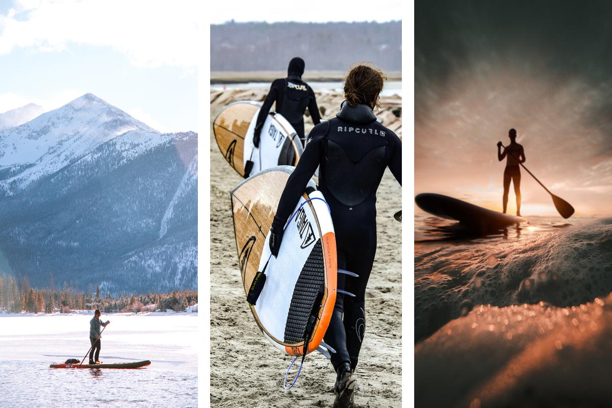 Se promener ou faire du surf ou faire des courses en stand up paddle